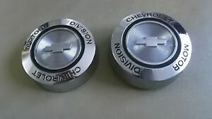 1967 Chevrolet Rally Wheel Center Caps 1 Nos And 1 Used 552269 2 Pieces
