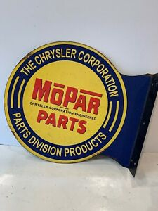 Mopar Parts Division Double Sided Metal Signs Charger Rt Dodge Chrysler 14x12
