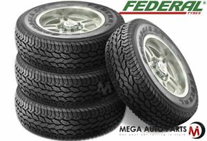 4 New Federal Couragia A t P225 70r16 101s Owl All Terrain Performance Tires