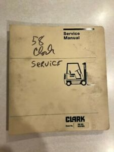 Clark Sm522 Forklift Service And Adjustment Manual