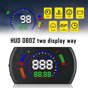 Obd 2 Hud Head Up Display Speed Rpm Engine Fault Warning System For Car Ma2102