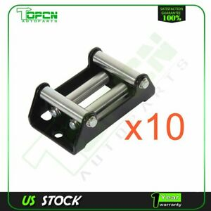Winch Roller Fairlead Fit Cable Up To 4 7 8 Heavy Duty Steel Bracket 10pcs