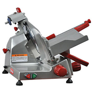 Berkel 825e plus 10 Manual Gravity Feed Meat Cheese Deli Slicer 1 4hp