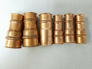 Zoomlock Bulk Lot 6 Pc Braze free Copper Refrigeration Reducer Fittings