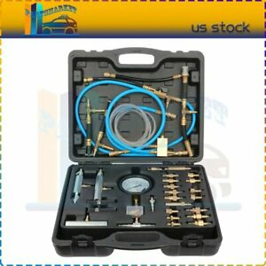 Professional 100psi Master Fuel Injection Pressure Test Kit Tester Gauge Set