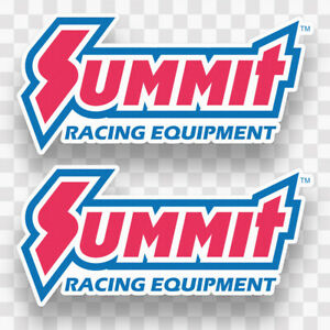 2x Summit Racing Decals Stickers Vinyl Nhra Equipment Racing Hot Rod Toolbox