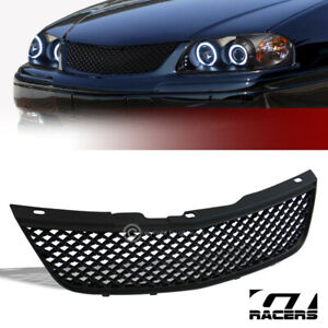 For 2000 2005 Chevy Impala Black Luxury Mesh Front Hood Bumper Grill Grille Abs