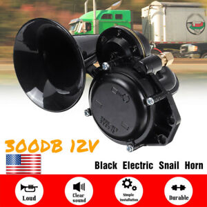 Universal Loud 300db 12v Electric Snail Air Horn Raging Sound For Car Motorcycle