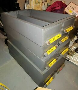 small Parts 8 Drawers Storage Cabinet Steel Gray