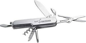 New Snap on Tools Multi purpose 8 Function Chrome Camping Knife