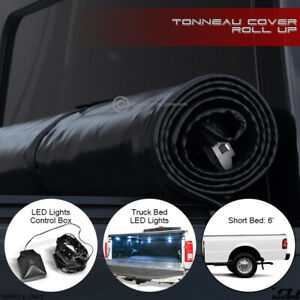 For 1983 11 Ranger 94 B series 6 Ft Bed Lock Roll up Tonneau Cover led Lights