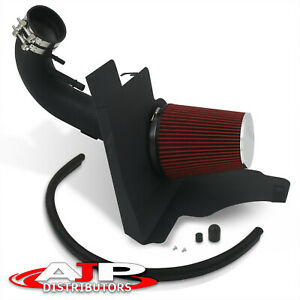 High Air Intake W Black Wrinkle Pipe Heat Shield For 2011 2014 Mustang Gt V8