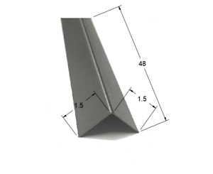 1 5 X 1 5 X 48 Stainless Steel Corner Guards 90 Degree Angles 20ga 2 Pack