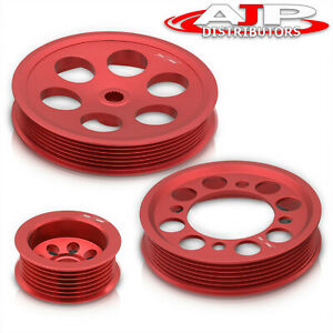 For 1993 1998 Toyota Supra Jza80 Red Crank Pulley Performance Lightweight Set