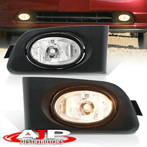 Chrome Driving Bumper Fog Lights Lamps Wiring Switch For 2001 2003 Honda Civic