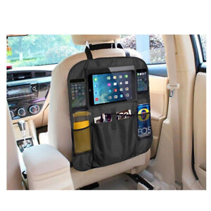 Car Back Seat Organizer With Phone Tablet Holder Touch Screen Pocket Storage Us