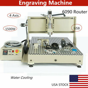 4 Axis Usb 1 5kw 6090 Router Engraver Diy Wood Drill milling 3d Carving Machine