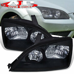 For 2005 2007 Ford Focus Headlights Headlamps Clear Lens Pair Left Right Set
