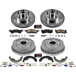 K15019dk Powerstop Brake Disc And Drum Kits 4 Wheel Set Front Rear New Coupe