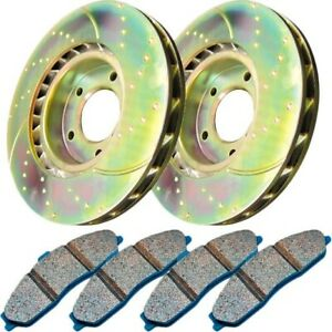 S6kr1015 Ebc Brake Disc And Pad Kits 2 Wheel Set Rear New For Chevy Camaro 98 02