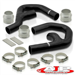 Silicone Intercooler Piping Kit Blk For 2006 2010 Vw Golf Mk5 Gti Audi A3 2 0t