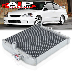 2 Row Aluminum Radiator For 1996 2000 Honda Civic Dx lx ex Eg Ek D15 D16 Sohc