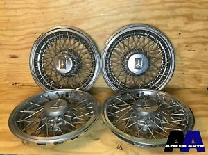 80 87 Oldsmobile Cutlass Supreme 14 Wire Spoke Hubcaps Wheel Covers Set Of 4