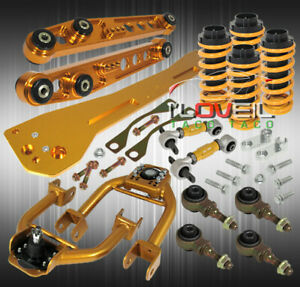 For 93 97 Civic Del Sol Eg2 Coilover Subframe Lower Control Arm Gold Camber Kit