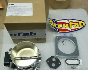 86 93 Mustang 302 5 0 Accufab 90mm Race Throttle Body With Cable Spacer Bracket