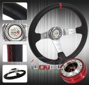 320mm Steering Wheel Combo Set W 1 5 Thin Quick Release Adapter Horn Button