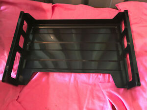 Universal Side Load Letter Desk Tray Two Tier Plastic Black unv08100