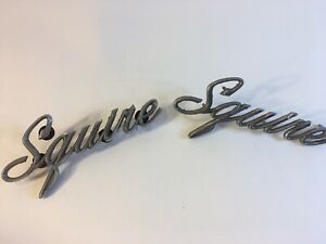 Vintage 2 Ford Squire Car Emblems Doab 7129163