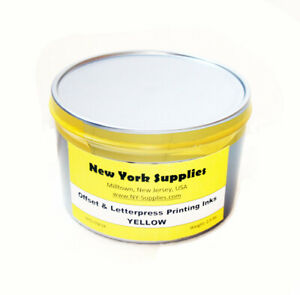 Yellow Offset And Letterpress Printing Ink 2 5 Lbs
