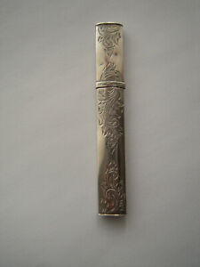 Antique Dutch Silver Sterling Needle Case