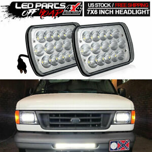 Pair 7 x6 5x7 Led Headlights High low For Ford F 350 F 450 F 550 Super Duty
