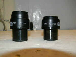 Nikon Cfi 10x 22 Eyepieces from A Nikon Eclipse Te300 Pair