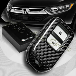 For Honda Cr v hr v pilot ridgeline Real Carbon Fiber Remote Key Shell Cover