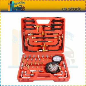0 140 Psi Manometer Fuel Injection Pressure Tester Gauge W car System Adapters