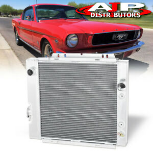 3 Row Aluminum Racing Cooling Radiator For 1964 1966 Ford Mustang Falcon Comet