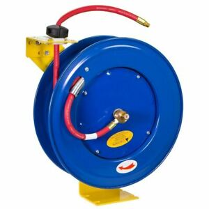 3 8 X 100 Retractable Air Compressor Hose Reel 300psi Auto Rewind Tool Steel