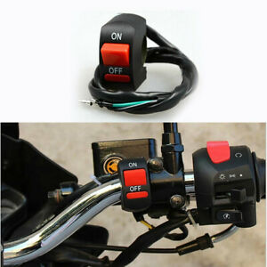 Universal Motorcycle Headlight Switch For 7 8 Handlebar On Off Button Dirt Atv