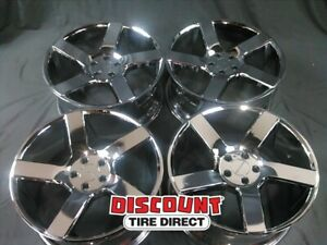 4 Used 20x9 15 5 115 Mil Switch Back Chrome Wheels Rims 20 Inch 59685
