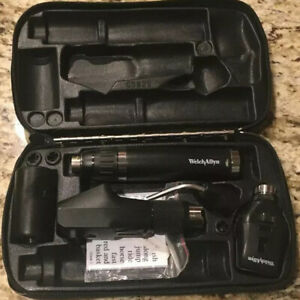 Welch Allyn Diagnostic Set Retinoscope Ophthalmoscope Lithium Handle More