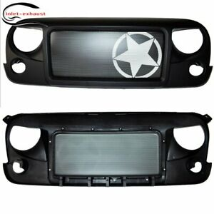 New Front Asterisk Grill Grille For Jeep Wrangler Rubicon Sahara Jk 07 17 Us