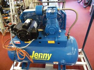 Jenny Rpm 1740 Air Hz 60 Compressor 2 Hp 30 Gallion