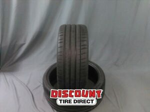 2 Used 245 30 20 Michelin Pilot Sport 4s 30r R20 Tires 32743