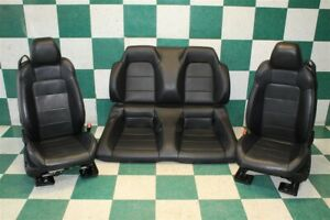 15 17 Mustang Convertible Set Black Leather Power Heated Cooled Seat Factory Oem