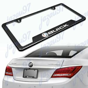 For Buick Carbon Fiber Look License Plate Frame Abs New X1