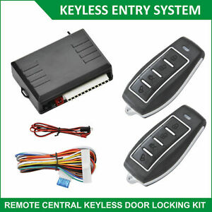 Anti Theft Alarm Remote Central Control System Car Locking Kit Entry Keyless