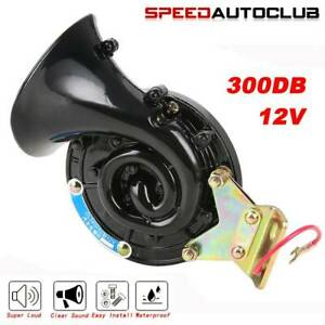 Universal 300db Loud Electric Snail Air Horn For Car Truck Lorry Suv Motorcycle